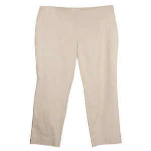 Beige Tummy Slimming Classic Fit Ankle Pants